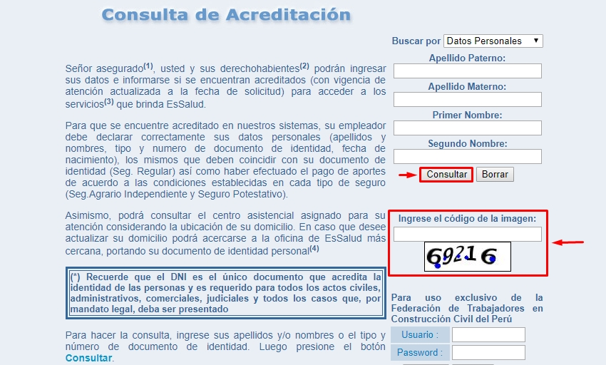 Paso 3 consultar EsSalud Perú
