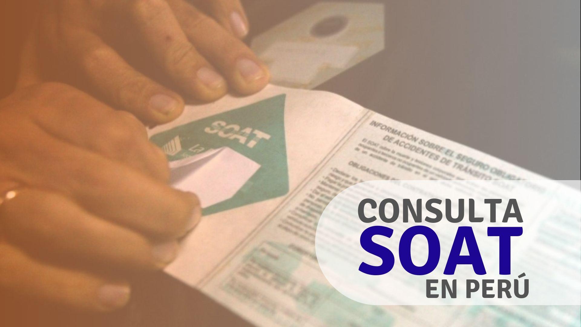 Cómo consultar SOAT en Perú