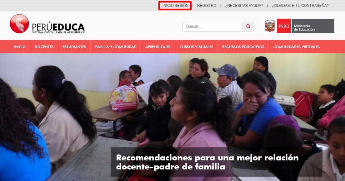 Paso 4 ingresar a la pagina PerúEduca