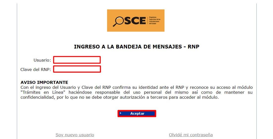 Inscripción RNP Perú paso 3