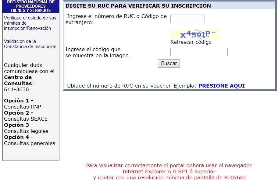 Verificar inscripción RNP Perú