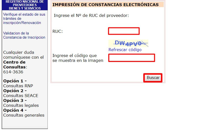 Constancias electrónicas RNP Perú