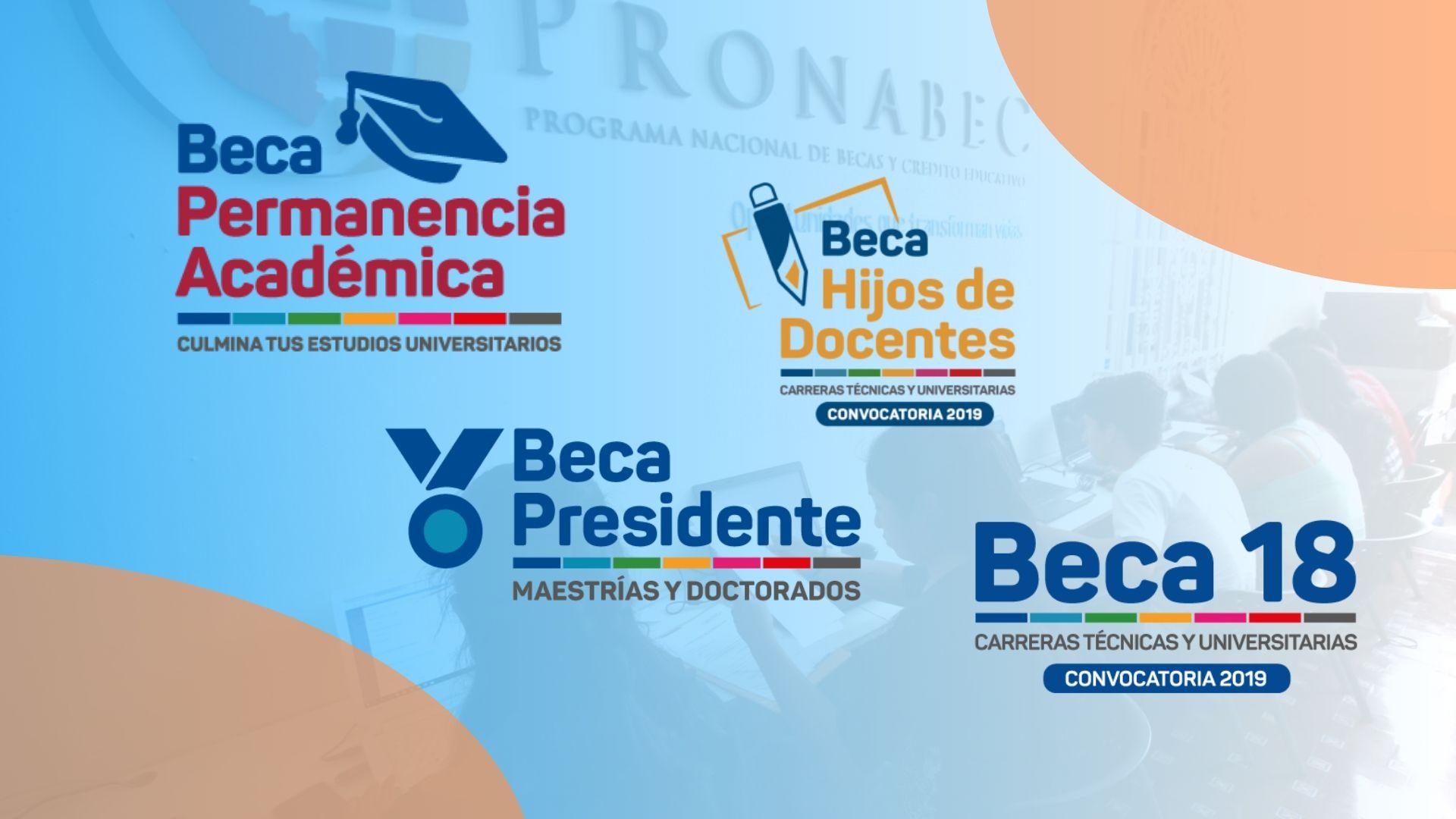 Tipos de becas PRONABEC Perú