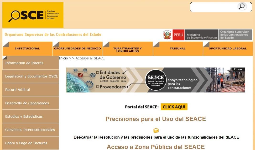 Certificado SEACE Perú