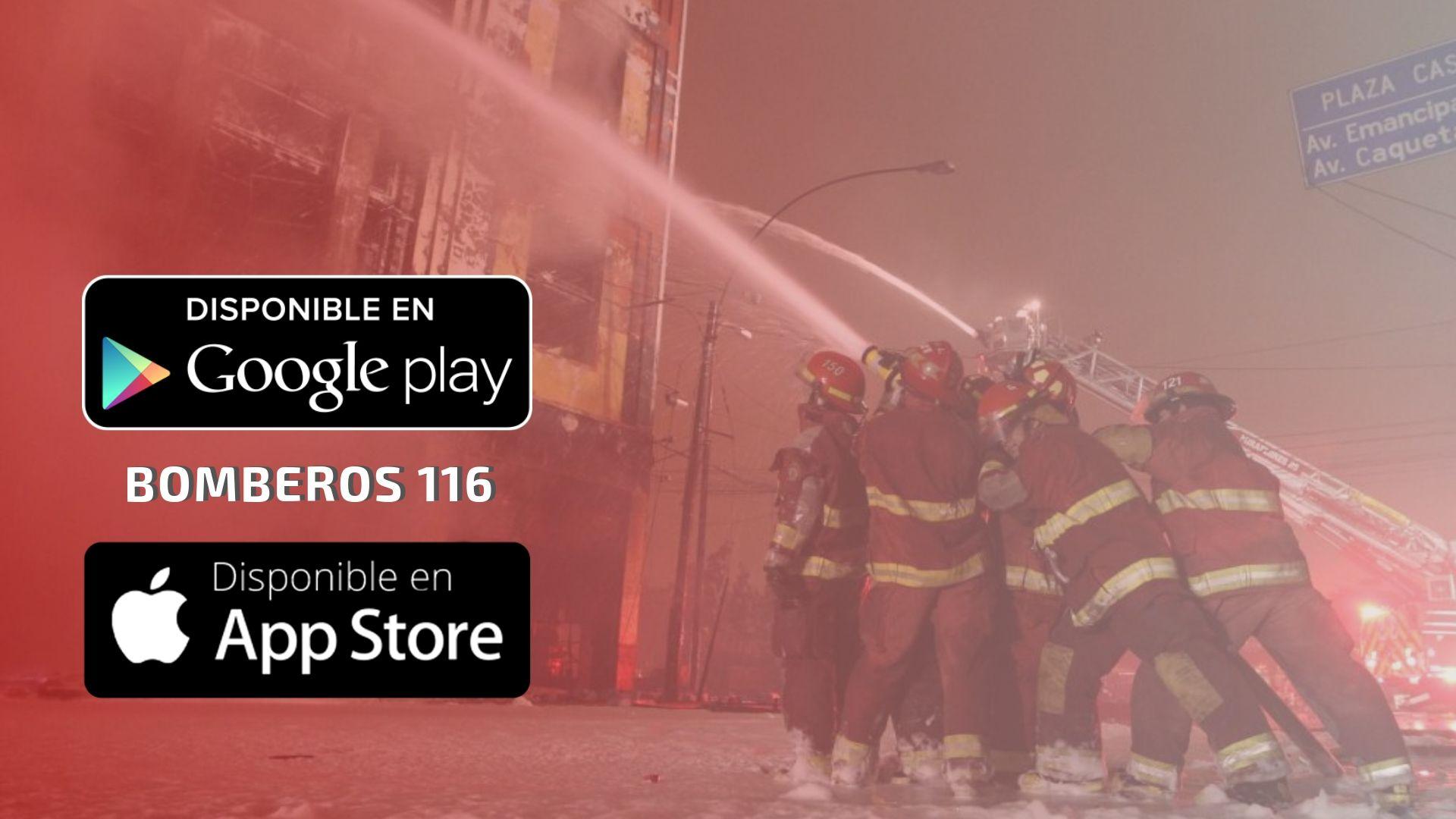 Reporte de emergencias Bomberos 116