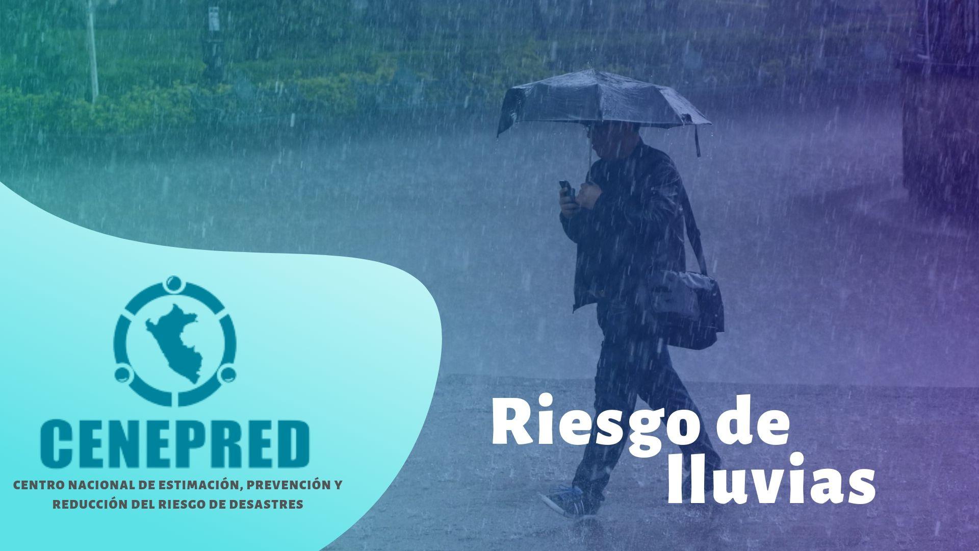 Riesgo de lluvias
