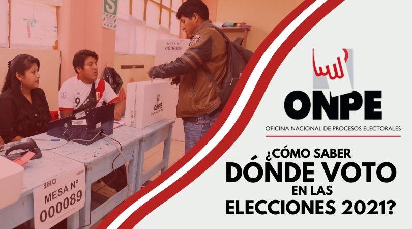 ONPE consulta dónde voto 2021